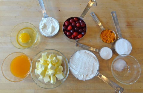 Mise en Place for Cranberry-Mandarin Scones