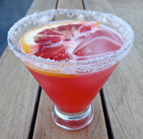 Blood Orange Margarita made with Campeon Silver