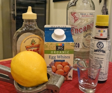 Ingredients for Pisco Sour