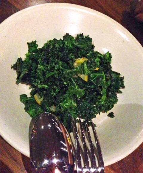 Sauteed Kale, Marcona Almonds, Meyer Lemon