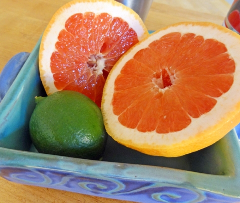 Fresh California ruby grapefruit