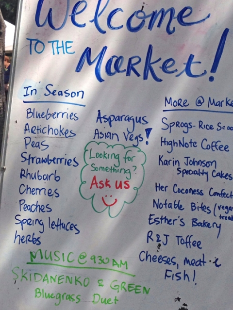 Checking out what's fresh at the PA Saturday Farmers' Market