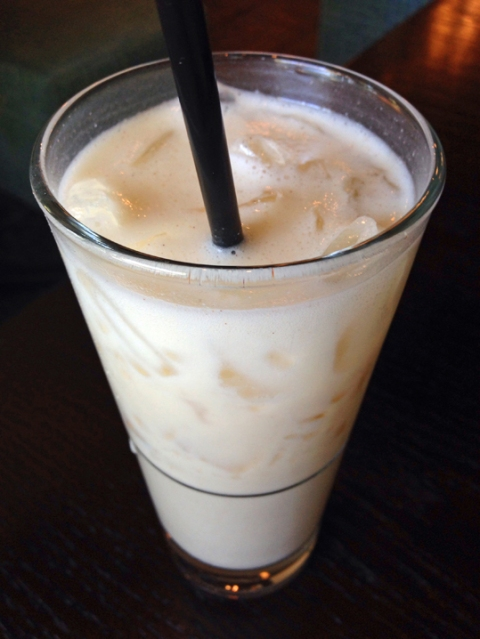 Horchata with coconut milk