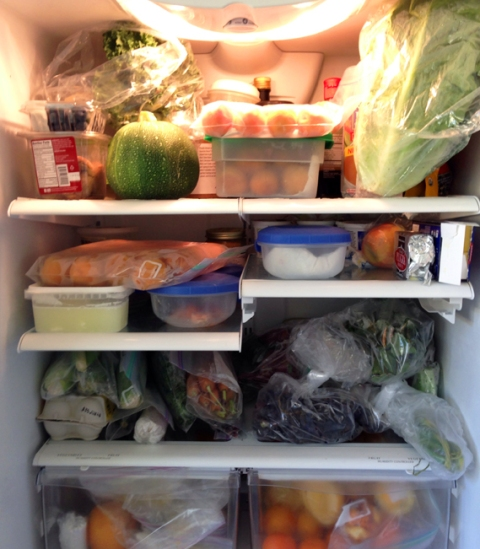 Inside view of refrigerator