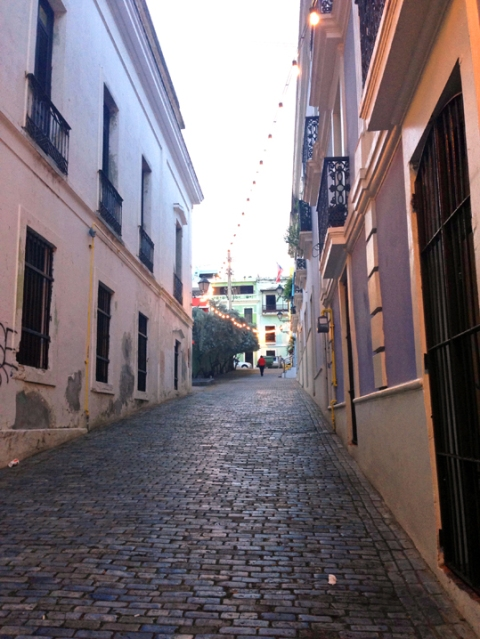 One of the narrow callejons off Calle San Francisco, Old San Juan