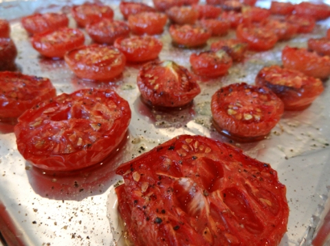 Roasted for 3 hours: tomato-y goodness