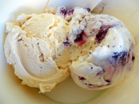 Earl Grey Tea and Lavender with Blueberry Swirl