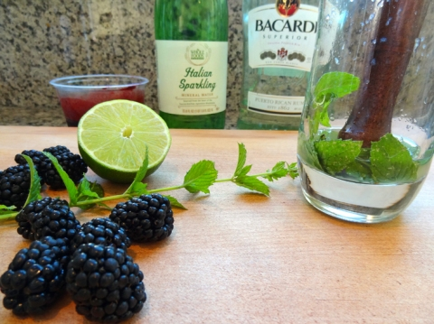 Minimize the cleanup: muddle the mint, simple syrup, and lime juice in the glass
