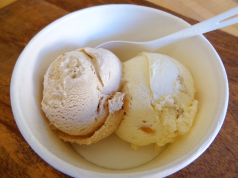Peach Jamble and Toasted Almond from Tin Pot Creamery in the 650