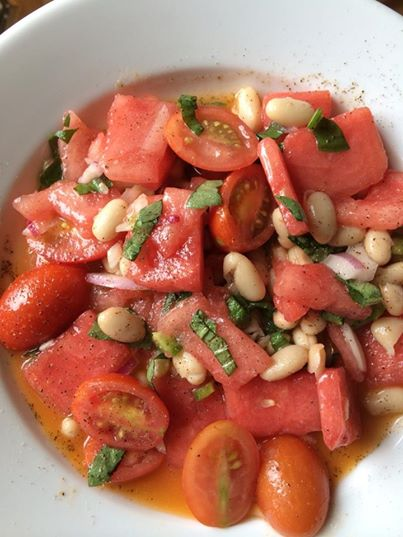 Summer in the 650: Suzanne's Tomato-Watermelon Salad