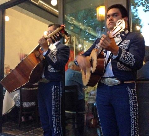 Just two of the mariachis at Viajando by LV Mar, Destination: Mexico