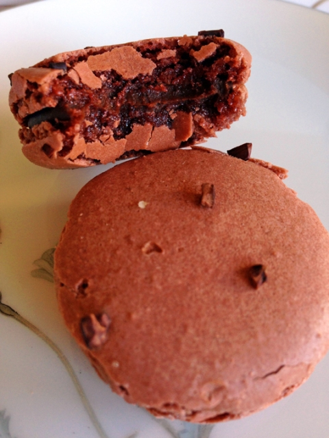 Chocolate macarons from Chantal Guillon in Palo Alto