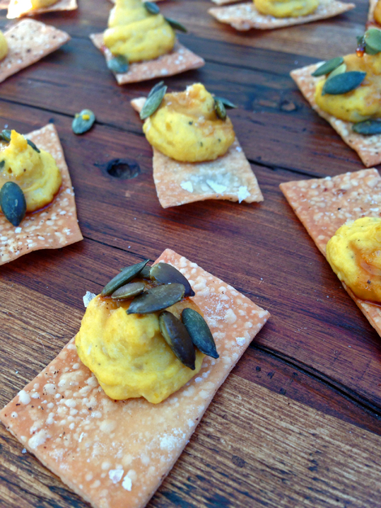 FarmShop Restaurant's Pumpkin Hummus on Housemade Lavash