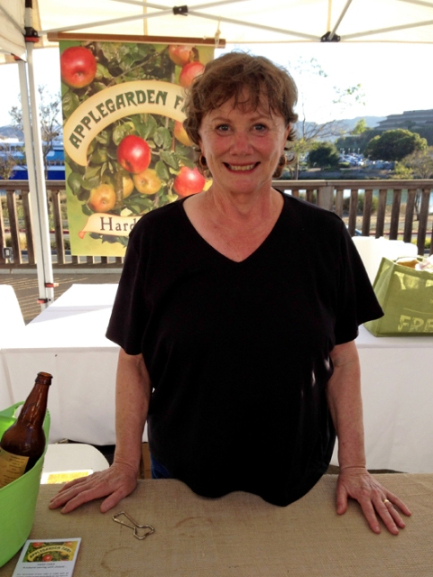Jan Lee, producer of organic, handcrafted AppleGarden Farm Hard cider at Bounty of Marin Organic