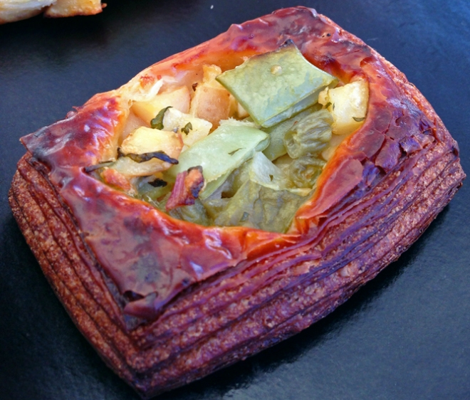 Parkside savory vegetable pastry made with Gospel Flat Farm produce