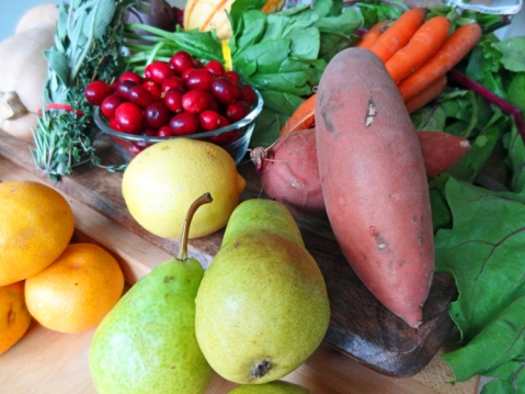 Fresh, organic produce like this could be donated to a California food bank of your choice