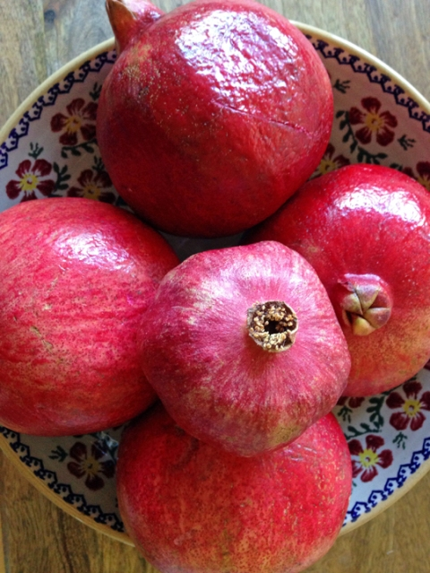 Beautiful, ripe pomegranates