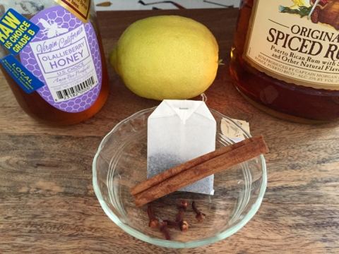 Christmas Toddy ingredients