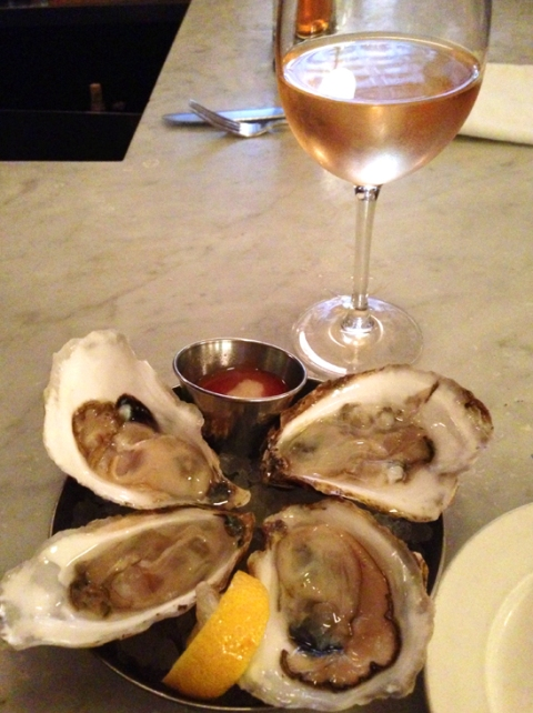 Oysters to start with a glass of crisp, yet fruity rose