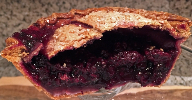 Whole Foods Blackberry-Lime Pie: Half for me...