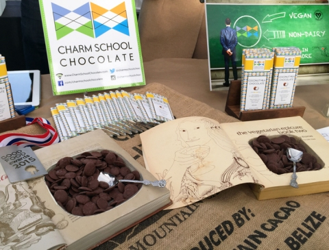 Charm School Chocolate's winning entry: Vegan Milk Chocolate Bar