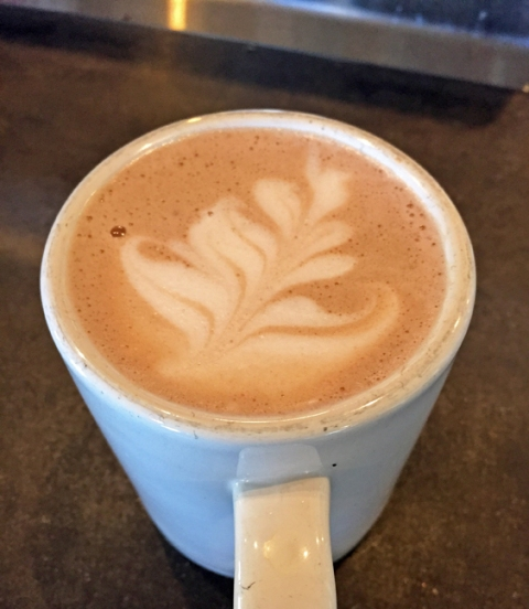 Ghiradelli hot chocolate at Redwood City's Back Yard Coffee Co.