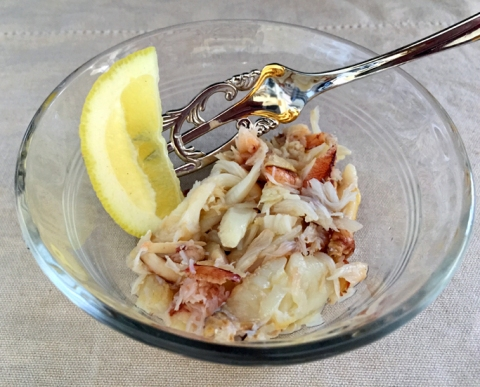 Yes, please: Freshly picked Dungeness crab with a touch of olive oil and lemon from my yard