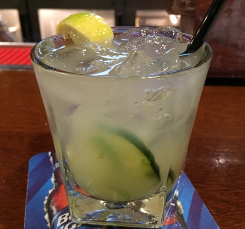 The Office Margarita: if you like jalapeno and cucumber, this your drink.
