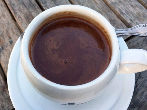 Ultra-rich hot, hot chocolate at Tootsie's in Palo Alto