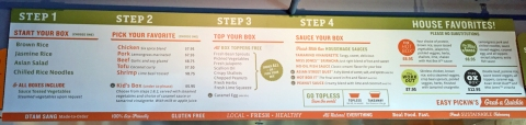 Four easy steps to a fresh, fast meal customized to your taste