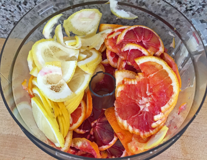 Thinly sliced fruit, ready for the pot