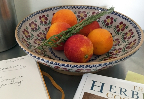 It doesn't get more Bay Area than this: fresh rosemary, backyard lemons, and springtime blood oranges