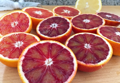 Beautiful regional blood oranges and one very local Eureka lemon