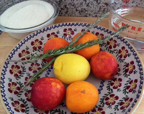 Simple, organic goodness (cane sugar, blood oranges, lemon, rosemary) and filtered water