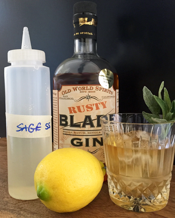 Sage simple syrup pairs well with whiskey and gin cocktails.