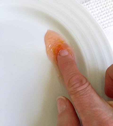 Doin' the marmalade wrinkle test
