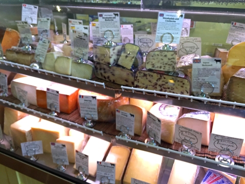 Just one of the cheese cases at Fromagerie Sophie