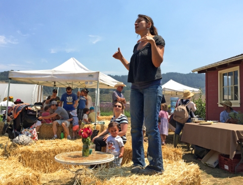 Teresa Kurtak, one of Fifth Crow Farm's farmers/partners/owners