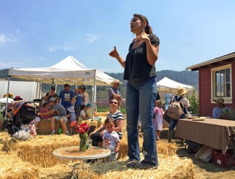 Teresa Kurtak, one of Fifth Crow Farm's farmers/partners/owners